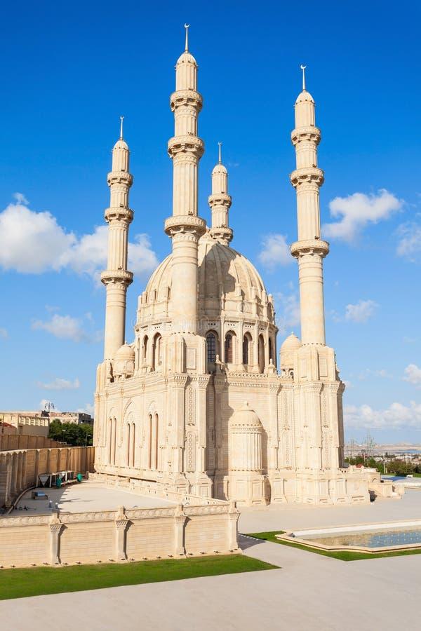 Heydar Mosque i Baku royaltyfria foton