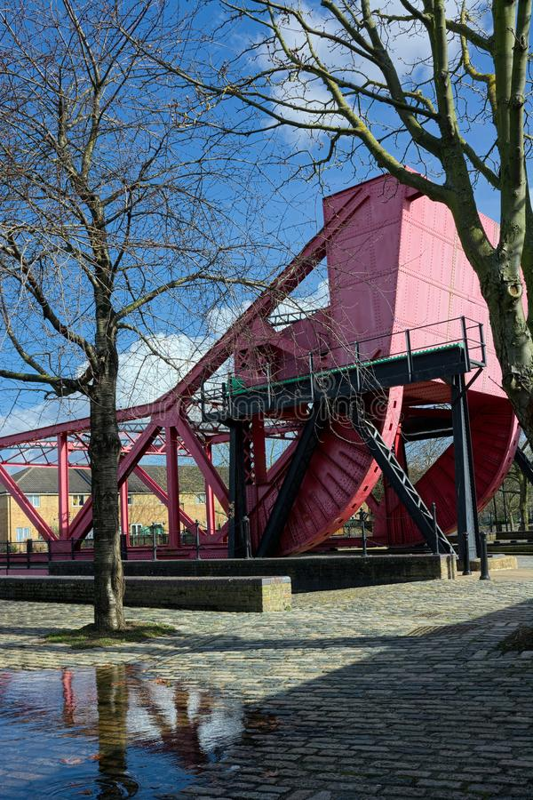 Bascule Bridge. Rotherhithe, London. Uk royalty free stock image