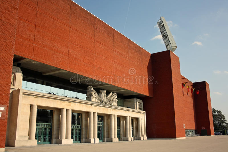 Heysel/re Baudouin Stadium, Bruxelles (Belgio) immagini stock libere da diritti