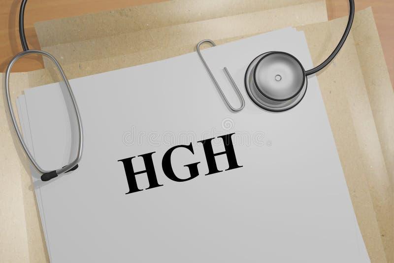 HGH生物概念 皇族释放例证