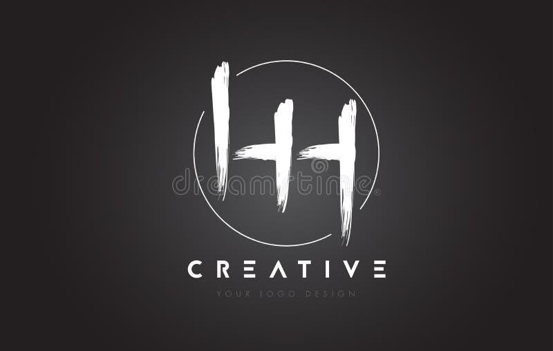 HH Brush Letter Logo Design Logotipo escrito à mão artístico C das letras ilustração do vetor