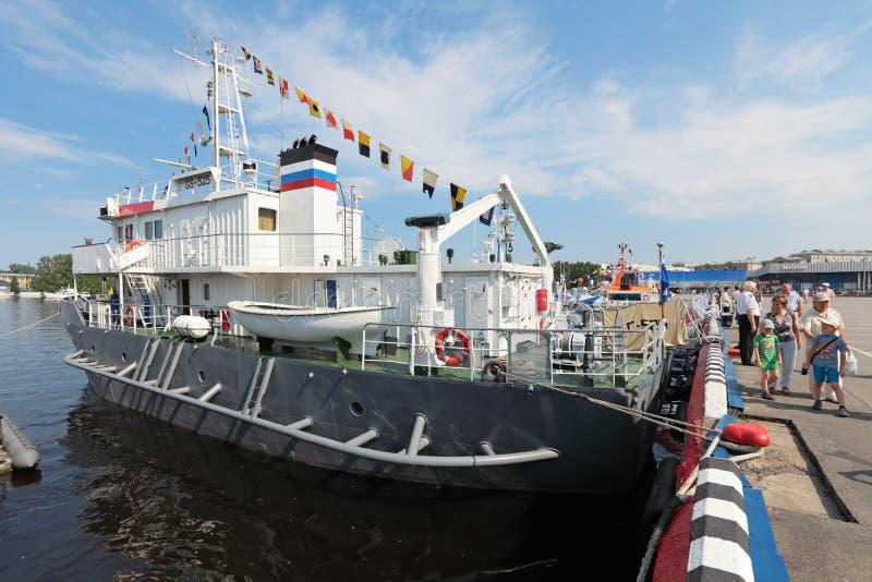 Hhydrographic船 库存图片