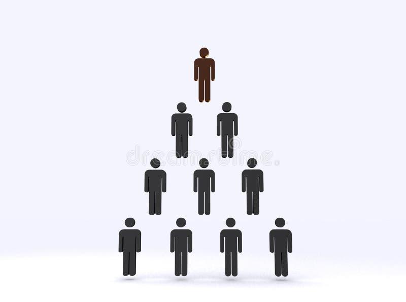 Hiérarchie illustration stock