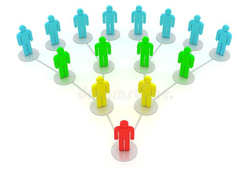 Hiérarchie illustration de vecteur
