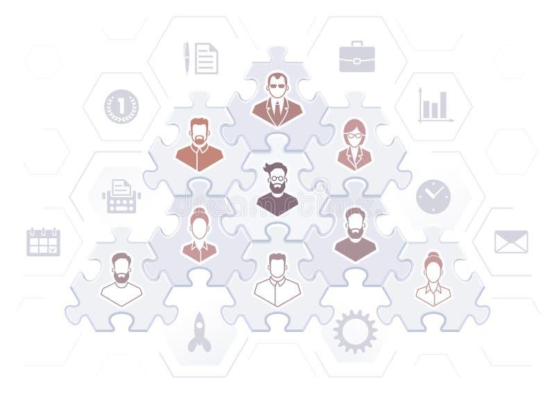 Hiérarchie d'affaires illustration stock