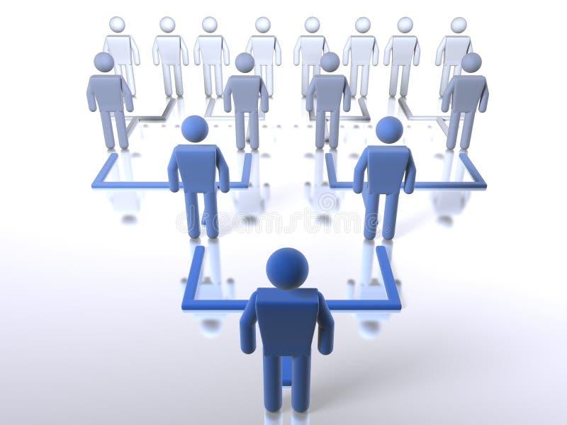 Hiérarchie d'affaires - bas jusqu'au dessus illustration libre de droits