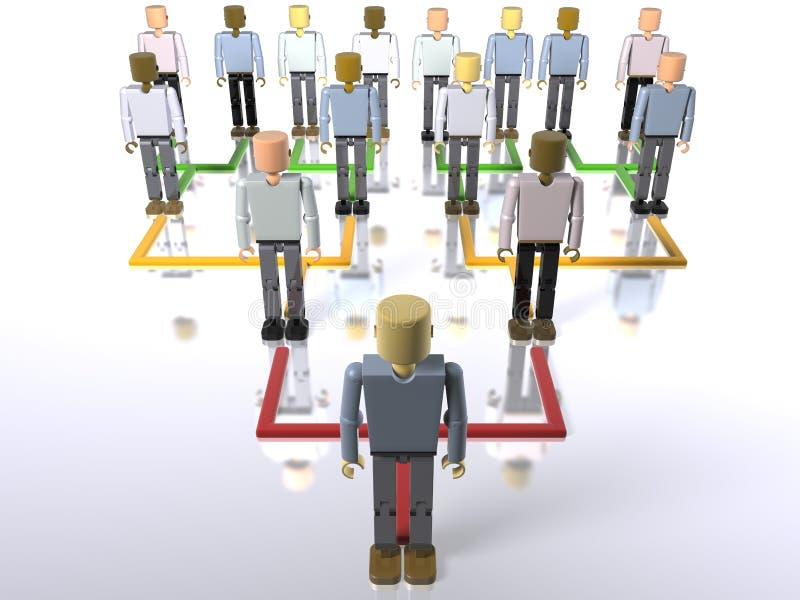 Hiérarchie d'affaires - bas jusqu'au dessus illustration stock