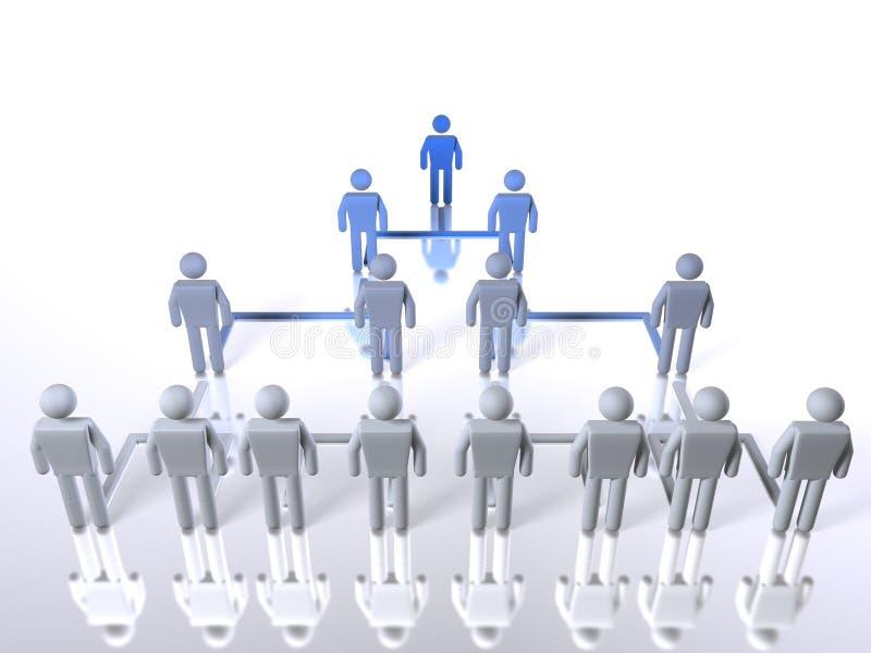 Hiérarchie d'affaires - longitudinale illustration de vecteur