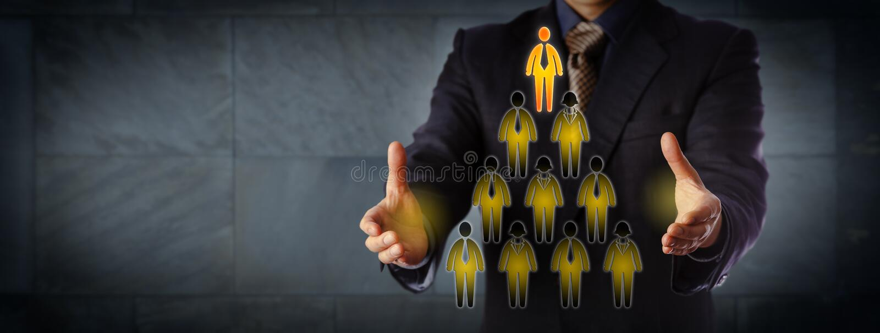 Hiérarchie de Building Triangular Management de Président photographie stock libre de droits