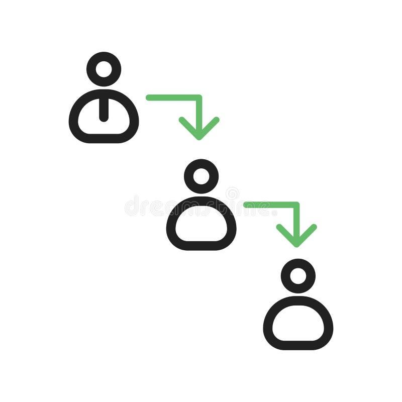 Hiérarchie de commandements illustration stock