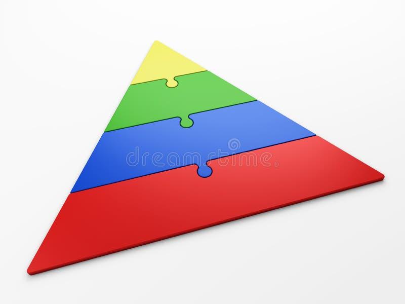 Hiérarchie de pyramide illustration libre de droits