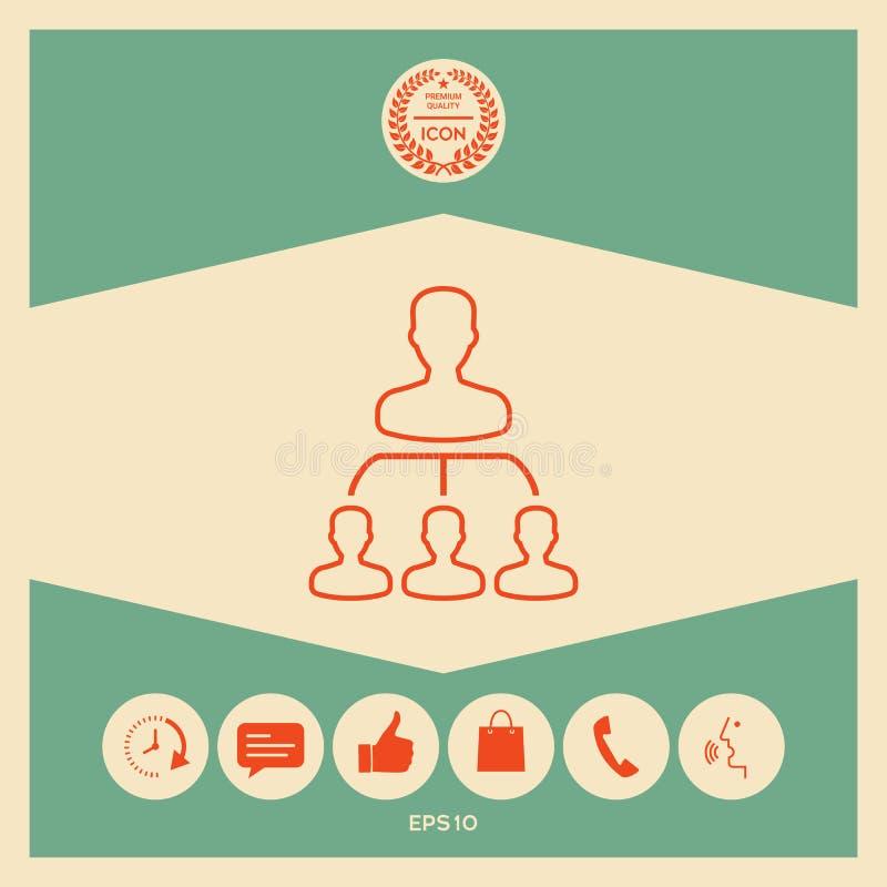 Hiérarchie - ligne icône illustration stock