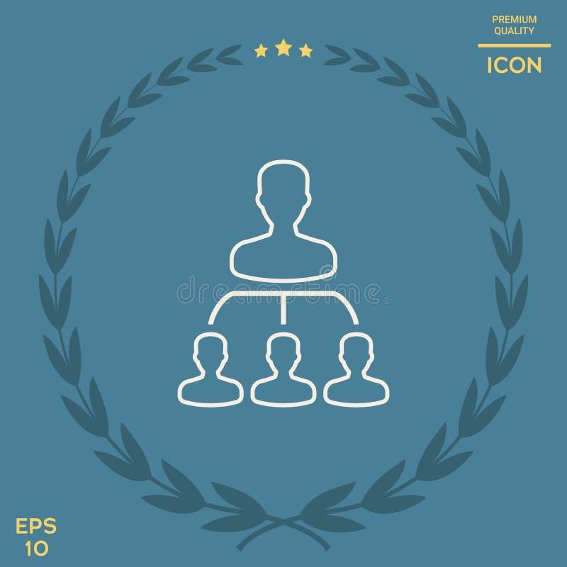Hiérarchie - ligne icône illustration libre de droits