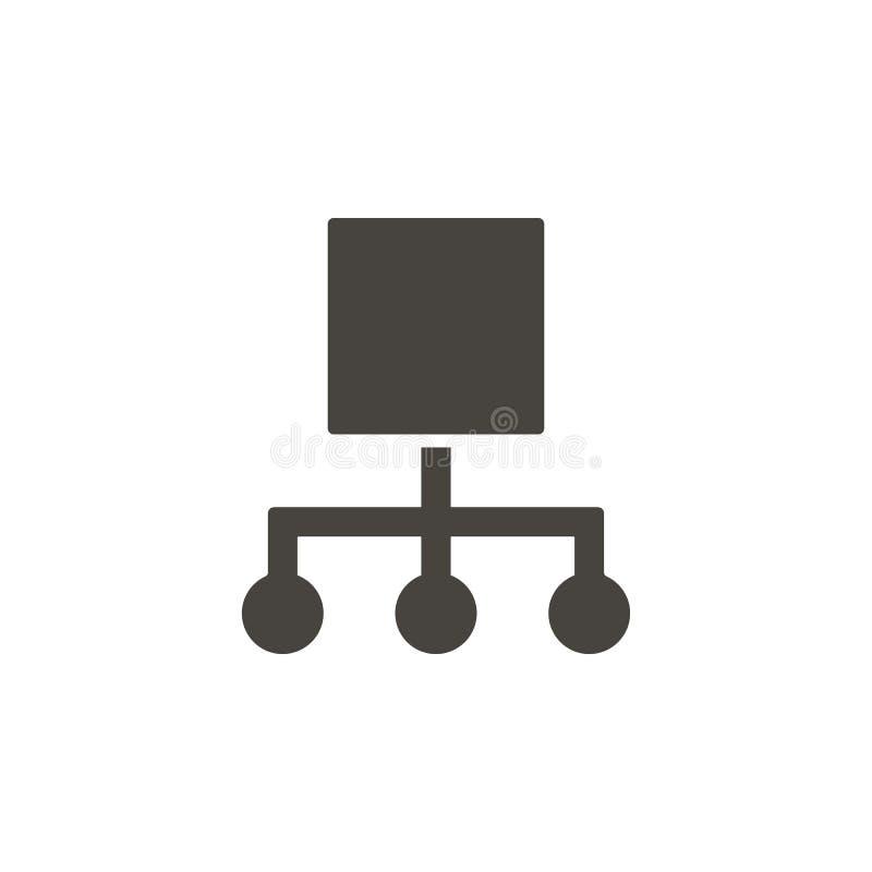 Hiérarchique, icône de vecteur de réseau Élément simple illustrationHierarchical, icône de vecteur de réseau Vecteur mat?riel de  illustration stock
