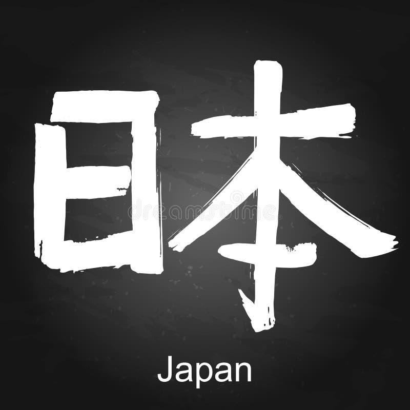 Hiéroglyphe Japon de kanji illustration de vecteur