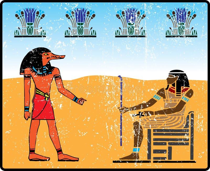 Hiéroglyphes égyptiens - 14 illustration de vecteur