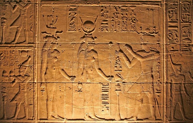 Hiéroglyphes image stock