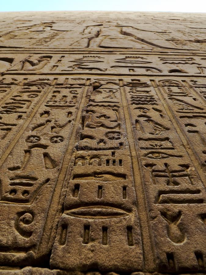 Hiéroglyphes antiques de symboles photos libres de droits