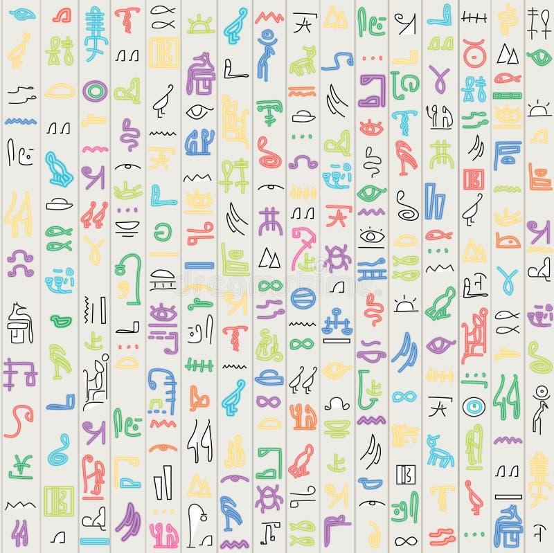 Hiéroglyphes de l'Egypte. illustration de vecteur