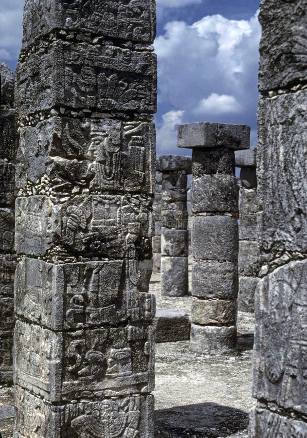 Hiéroglyphes maya photographie stock libre de droits