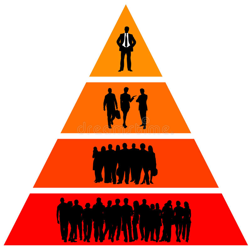 hiërarchie stock illustratie