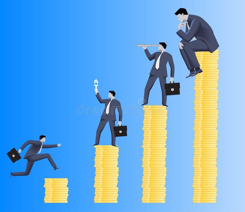 Hiërarchie bedrijfsconcept stock illustratie