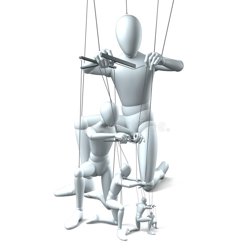 Hiërarchie, Chef-koks, Arbeiders stock illustratie