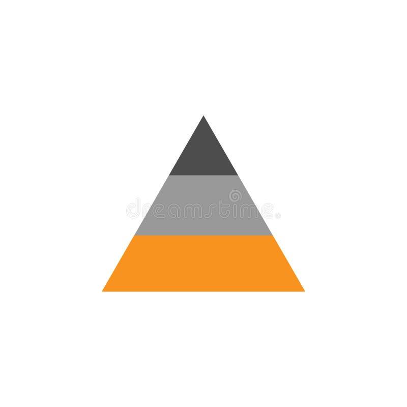 Hiërarchie en infographicspictogram Element van financieel, diagrammen en rapportenpictogram voor mobiele concept en webtoepassin royalty-vrije illustratie