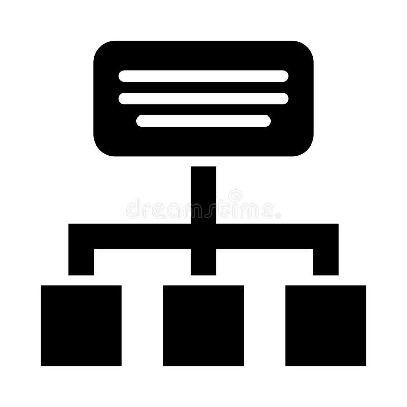 Hiërarchie Glyph pictogram geïsoleerd Grafisch Stijl in EPS 10 eenvoudige glyph-elementenzaken & bureauconcept bewerkbare vector stock illustratie