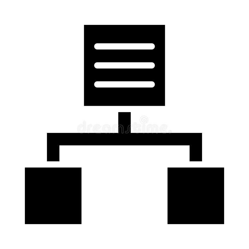 Hiërarchie Glyph pictogram geïsoleerd Grafisch Stijl in EPS 10 eenvoudige glyph-elementenzaken & bureauconcept bewerkbare vector vector illustratie