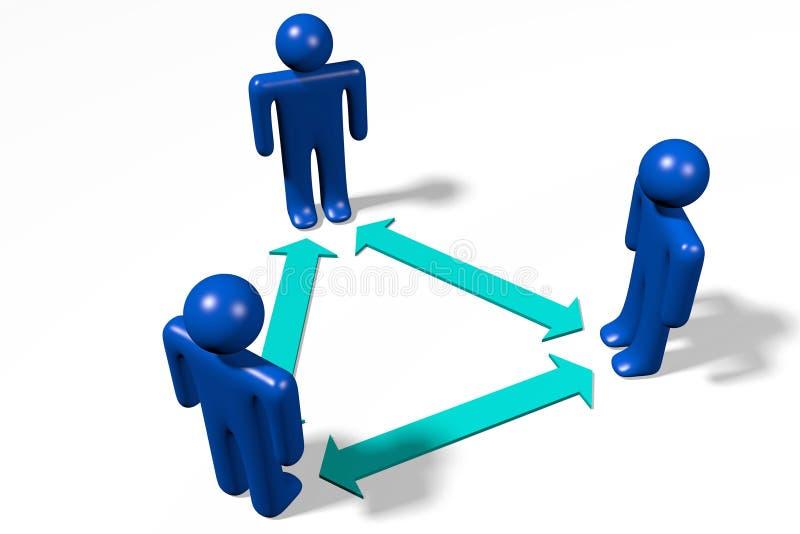 Hiërarchie, groepswerk, structuur, organisatie… royalty-vrije illustratie