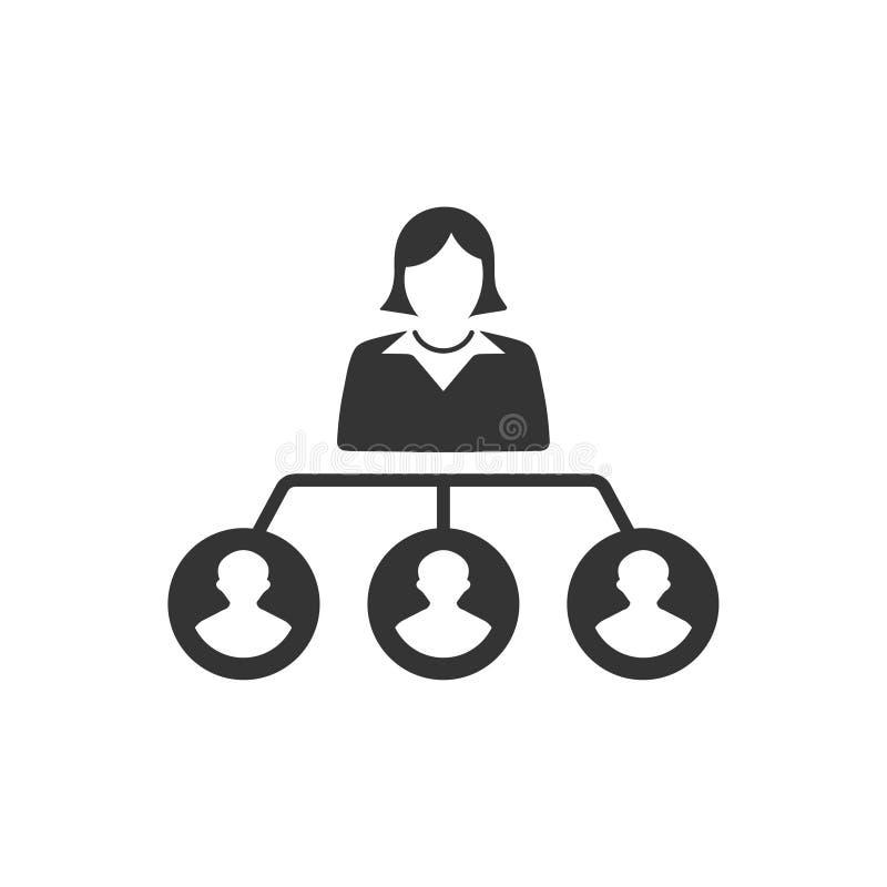 Hiërarchie, het Pictogram van de Werknemersstructuur royalty-vrije illustratie