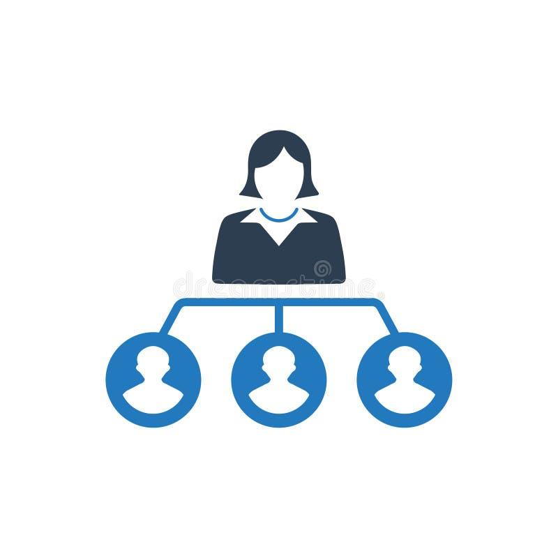 Hiërarchie, het Pictogram van de Werknemersstructuur vector illustratie