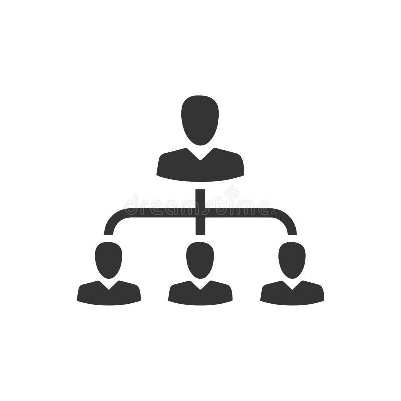 Hiërarchie, het Pictogram van het Werknemersbeheer royalty-vrije illustratie