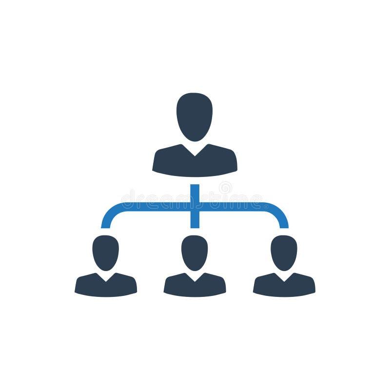Hiërarchie, het Pictogram van het Werknemersbeheer stock illustratie