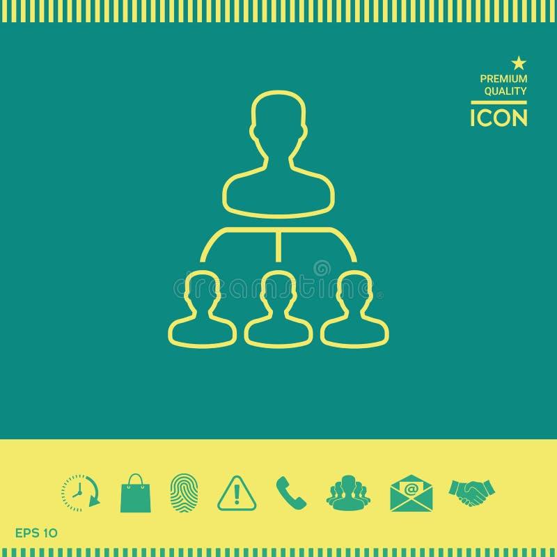 Hiërarchie - lijnpictogram stock illustratie