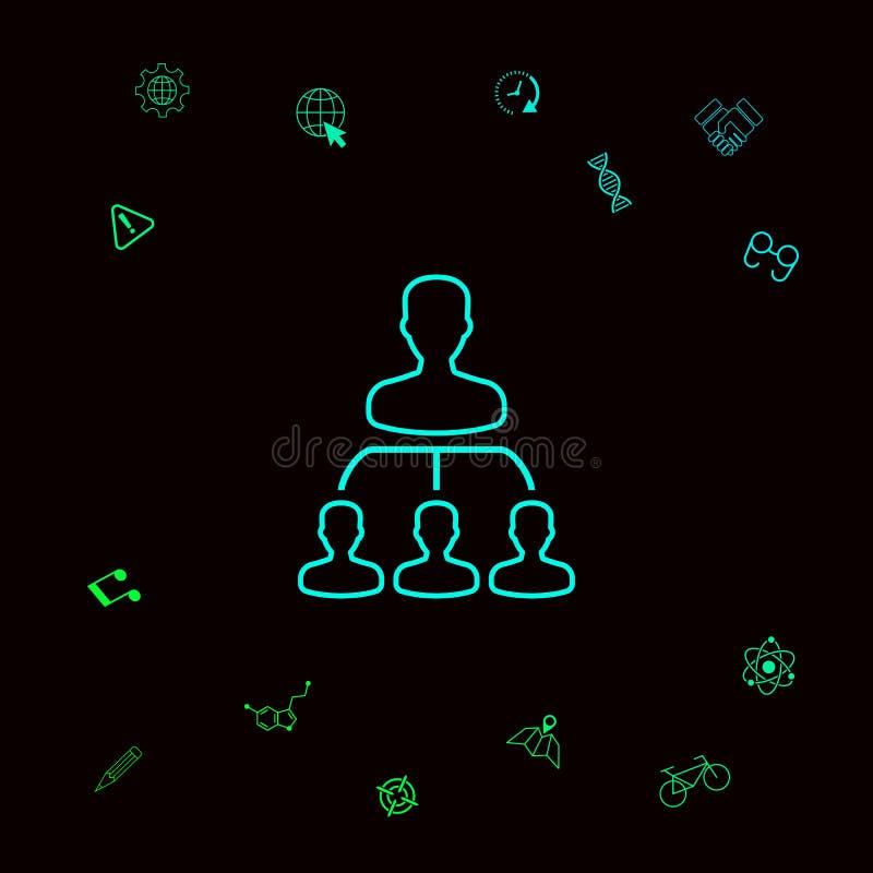 Hiërarchie - lijnpictogram Grafische elementen voor uw designt royalty-vrije illustratie