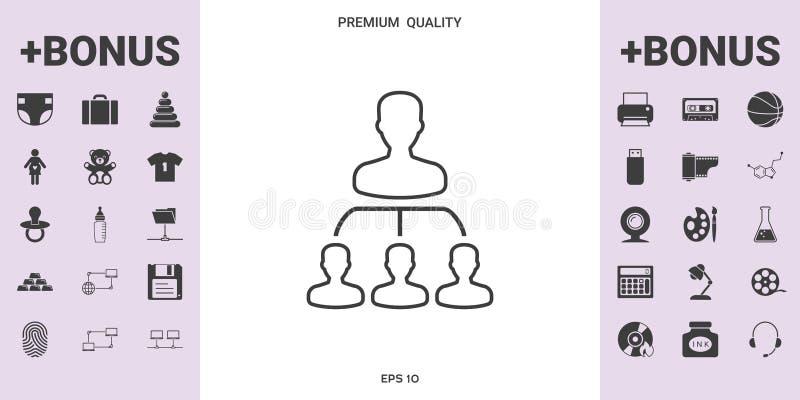 Hiërarchie - lijnpictogram - grafische elementen voor uw ontwerp royalty-vrije illustratie
