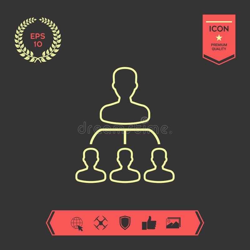 Hiërarchie - lijnpictogram Grafische elementen voor uw ontwerp royalty-vrije illustratie
