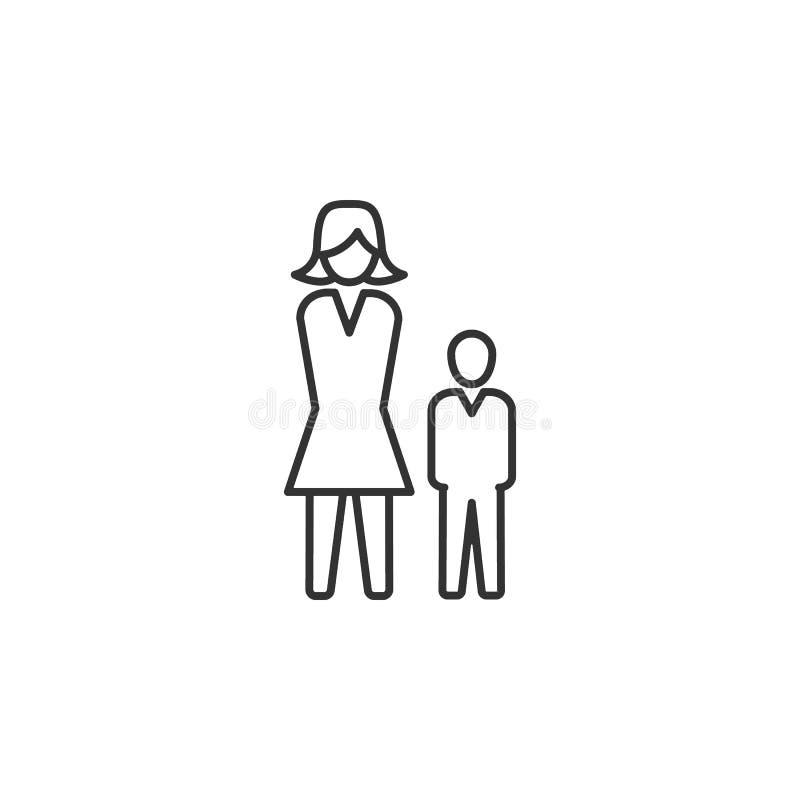 Hiërarchie, mens, bedrijfslijnpictogram Eenvoudige, moderne vlakke vectorillustratie voor mobiele app, website of Desktop app stock illustratie