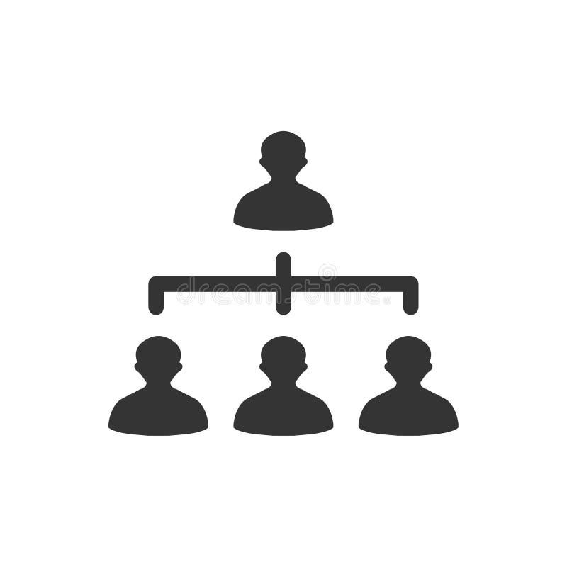 Hiërarchie, Team de bouwpictogram vector illustratie