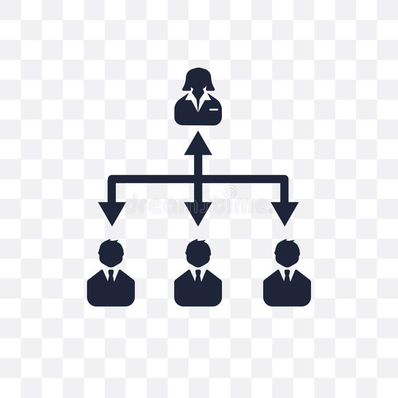 Hiërarchie transparant pictogram Het ontwerp van het hiërarchiesymbool van Zaken royalty-vrije illustratie