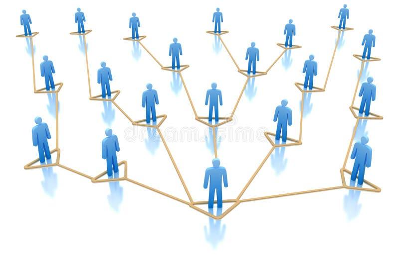 Hiërarchie van Bedrijfsnetwerkconcept. royalty-vrije illustratie