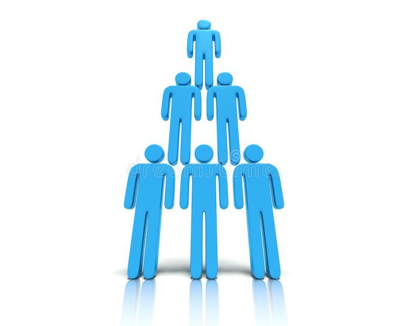 Hiërarchie van mensen. vector illustratie