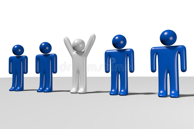 Hiërarchie, werknemers, structuur, organisatie… royalty-vrije illustratie