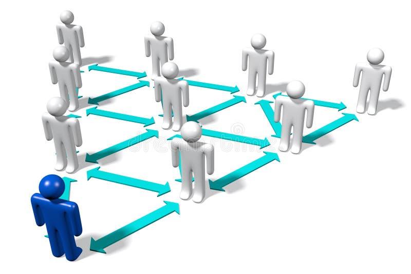 Hiërarchie, werknemers, structuur, organisatie… vector illustratie