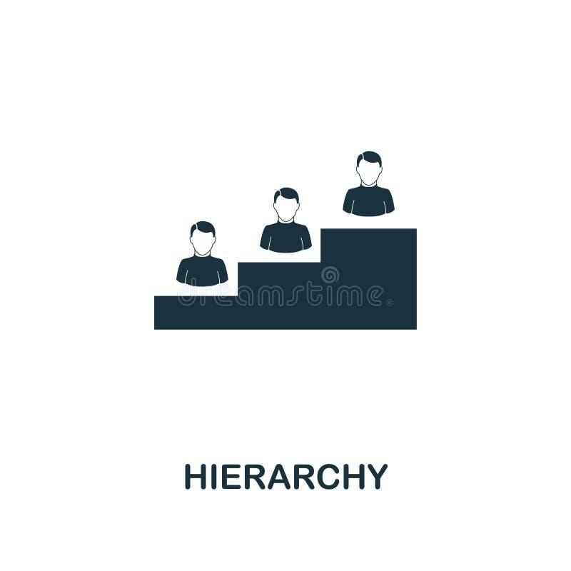 Hiërarchiepictogram Het ontwerp van de premiestijl van de inzameling van het groepswerkpictogram UI en UX Pictogram van de pixel  royalty-vrije illustratie