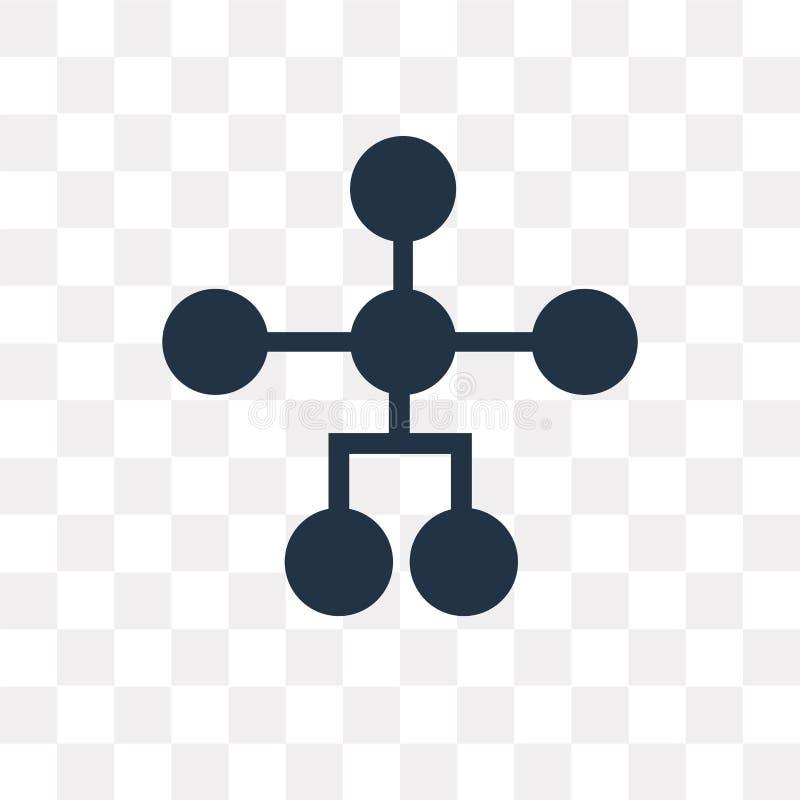 Hiërarchisch structuur vectordiepictogram op transparante backg wordt geïsoleerd royalty-vrije illustratie