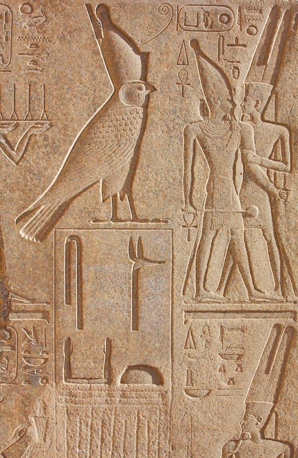 Hiëroglyfische de tempel van Luxor royalty-vrije stock afbeelding