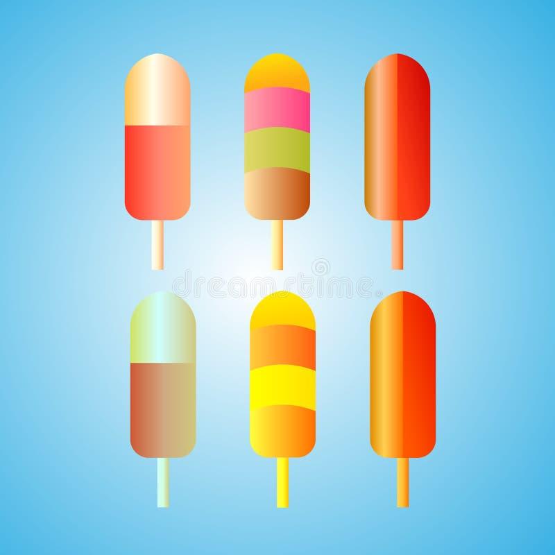 Дизайн логотипа мороженого Красивый логотип для вашей компании бесплатная иллюстрация